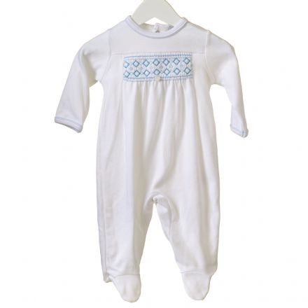 White Interlocking Sleepsuit